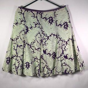 Anthropologie Purple Stitched Skirt